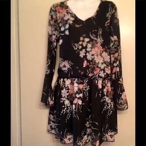 Flowing floral blouse